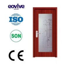Novo projeto vidro porta de madeira/madeira/porta de vidro da porta