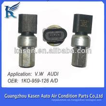 Transductor de sensor de presión de compresor de aire acondicionado automático para VW AUDI OE # 1K0 959 126 A / D