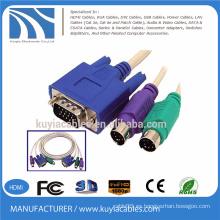 Venta caliente VGA SVGA a RCA S-Video AV OUT Tarjeta HD 15 Pin Convertidor Cable para TV PC