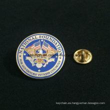 Insignia de encargo del Pin de la solapa del metal de la alta calidad al por mayor del fabricante