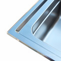 DS12050 Double lavabo de cuisine en acier inoxydable avec planche à laver