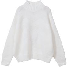 Suéter de cachemira de gran tamaño de cuello de tortuga PK18CH006