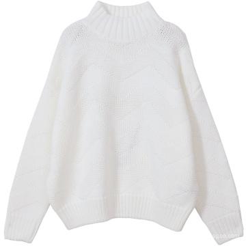 PK18CH006 леди водолазка негабаритных кашемировый свитер