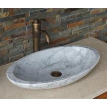 Pia de mármore branco oval de Guangxi