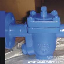 A armadilha de vapor invertida da cubeta do aço de molde Wcb / Wcc / Lcb / Wc6 / CF8 / CF8m com flange termina