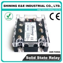 ССР-T40DA промышленного использования одобренный CE 40А постоянного тока в переменный 3 фазы реле SSR