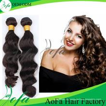 7А класс необработанные человеческих волос Девы Реми волос уток