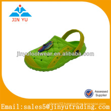 Lovely kids eva garden shoes with green color
