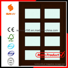 2014 Hot Sale Interior Vidro Sliding Wooden Door with Certificate