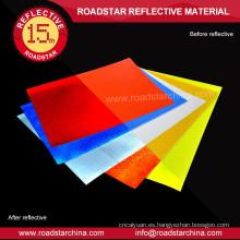 Auto-adhesivo respaldo vinilo reflexivo prismático imprimible de PVC