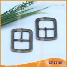 Tamaño interior 24.5mm Hebillas de metal para los zapatos, el bolso o la correa KR5118