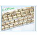 4MM cristal cristal rectángulo cuentas de cristal