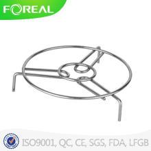 Almohadilla caliente de alambre de metal cromado