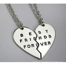 Mejores amigos para siempre colgantes collar (yn0178)