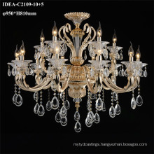 wrought iron chandelier gold color lighting