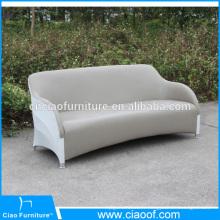 Sofa en cuir extérieur imperméable de 3 places en cuir d'unité centrale