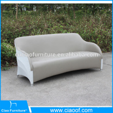 Outdoor waterproof PU leather 3 seater leather sofa