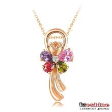 18k banhado a ouro pingente de jóias de casamento atacado pingente (CNL0030-C)