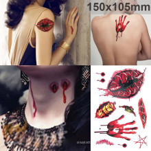 Etiqueta engomada del tatuaje del traje de Halloween de moda