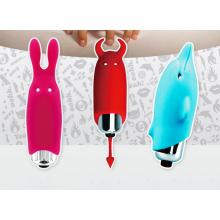 Vibradores adultos do sexo dos brinquedos com modelagem três bonita para a opção
