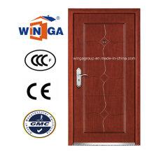 Casa caliente de la venta de la puerta acorazada de madera de acero del MDF del exterior (W-A7)