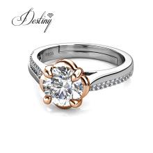 Sterling Silver 1 Carat Gra Moissanite Adjustable Women Wedding Band Ring