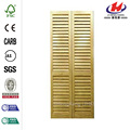Louver Panel Unfinished Wood Interior Closet Bi-fold Door