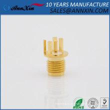 Venda como bolos quentes SMA feminino Rodada 1.0mm solda PCB clipe borda montagem círculo rodada