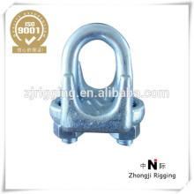 Tipo de alta qualidade do grampo da corda de fio maleável A com galvanizado