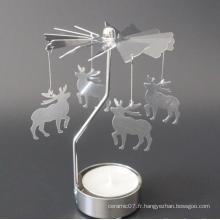 Bougeoir rotatif en aluminium