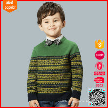 Hot selling fashion knitted woolen sweater designs for children