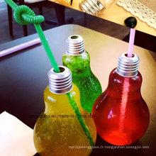 Bouteilles en verre de 250 ml pour boisson, jus, lait, eau avec couvercle