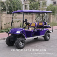 6 seats off road tyre gas power shuttle cart with alloy rim