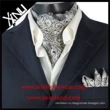 2015 Новая Мужская Мода Шелк Печатных Галстук Ascot Галстуки