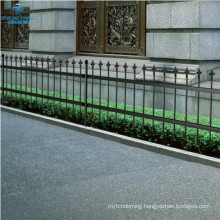 ornamental security palisade fence steel black pointed top fencing