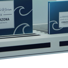 Paper cosmetic display boxes