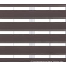 Store zébré à rideaux unis teinté