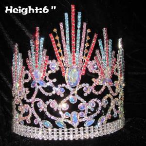Diamante AB con coronas de cristal de espiga de color
