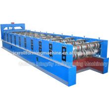 Máquina de moldagem de rolo de piso de aço galvanizado de alto padrão tipo cassete com máquina de gravação em relevo
