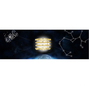 Constellation Ring Zirkonia Steine ​​Intarsien