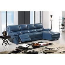 Sofá de cuero moderno para sala de estar Juegos de sofá de cuero de colores