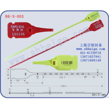 Plastic indicative seal BG-S-003