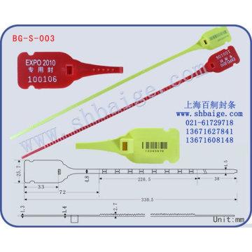 Plastic indicative seal BG-S-003