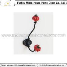 Металлический крючок в европейском стиле с керамическим кнопом