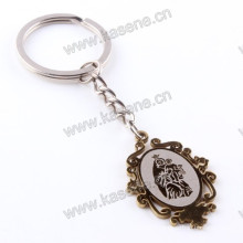 Cross Pendant with Prayer English Words Catholic Keychain