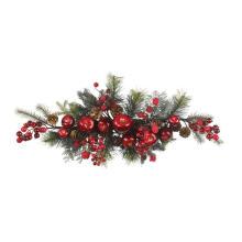 Gancho de Natal artificial de 30 polegadas com maçã impressionante e cereja (MY205.445.00)