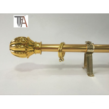 Golden Popular Curtain Pipe Iron Curtain Rod for Decoration