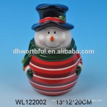 2016 new-style keramischen weihnachtsschneemann cookie jar