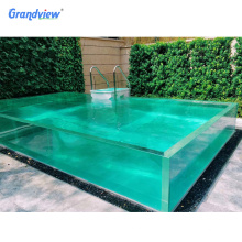 Custom Super thick fish tank large acrylic for glass swimming pool