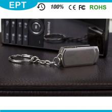 Movimentação livre do flash de USB do pormo do metal de Keychain do logotipo livre